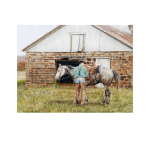 Joleta's Barn, western artist, Mikel Donahue