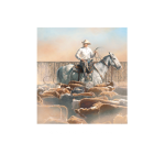 working the pens, western artist, Mikel Donahue