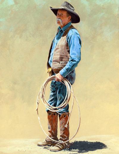 06 Cowboy 15_x24_ Acrylic