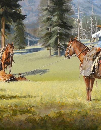 High Country Stray 24_x36_ Acrylic